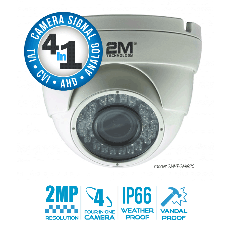 2M Technology 2MVT-2MIR20 2MP Vandal Eyeball Camera
