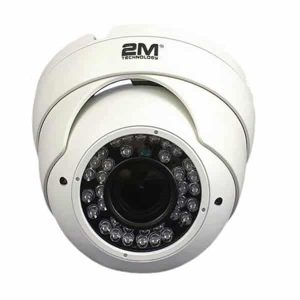 2MVT-2MIR25V White Vandal Proof Dome Eyeball