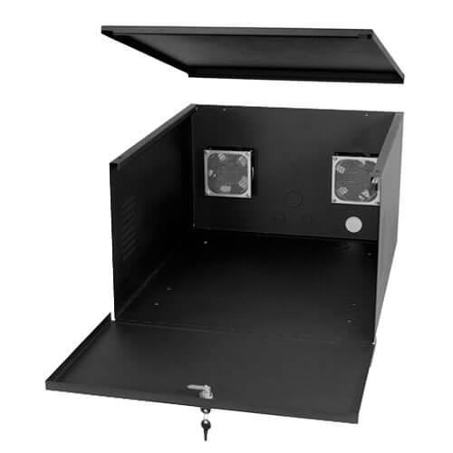 VLB DQ-21-24-13 VCR/DVR Lockbox with Fan
