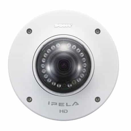 Sony SNCDH180 Network 720p HD Vandal Resistant Minidome Camera with View-DR Technology and IR