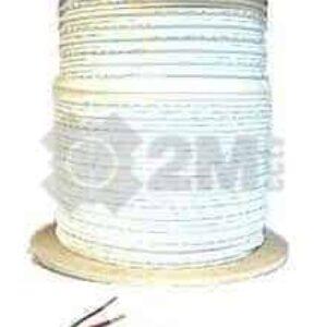 SIAMESE-1000-WHT 1000 Feet White Siamese Coaxial Cable