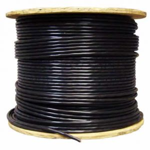 2M Technology SIAMESE-1000-BLK 1000ft Black Siamese Cable