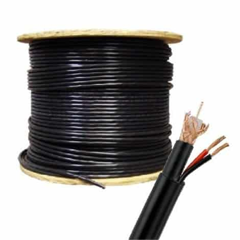 2M Technology SIAMESE-500-BLK 500ft Black Siamese Cable_Black Friday
