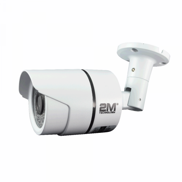 2M Technology 2MBT-2MIR20 2.0MP TVI Bullet Camera with Fixed Lens Side View 1-3
