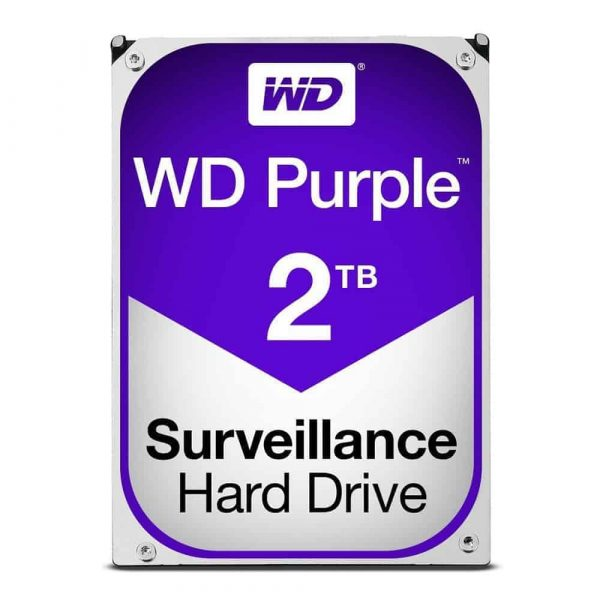 Western Digital WD20PURZ-2TB Purple Surveillance 2 TB Internal HDD -1