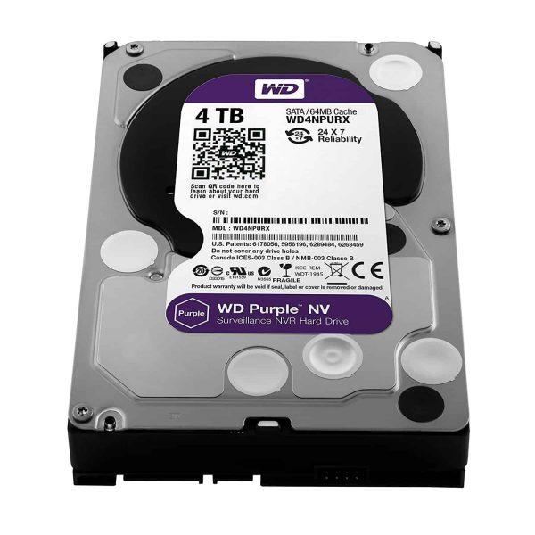 WD Purple Hard Drive WD40PURZ-4TB-3