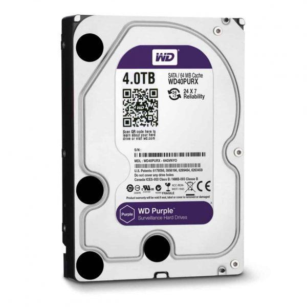 WD Purple Hard Drive WD40PURZ-4TB-2