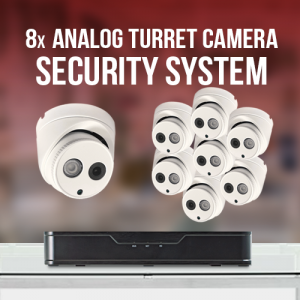 8 Analog Turret Camera System