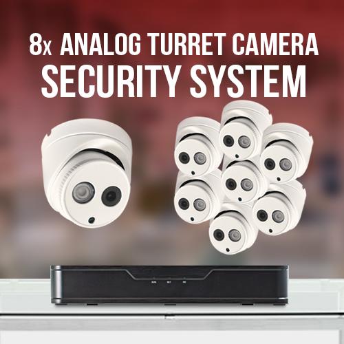8 Analog Turret Camera System