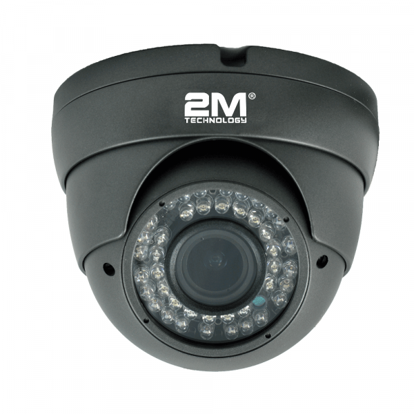 2M Technology 2MVT-2MIR20 2MP TVI Fixed Lens Vandal Camera - Grey