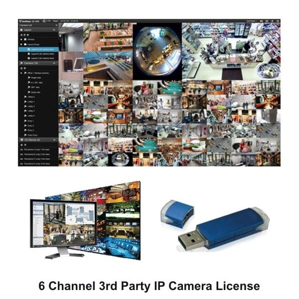 Geovision 82-VMS0000-0006 (6 Channel) 3rd Party VMS Software License for 32 Channels