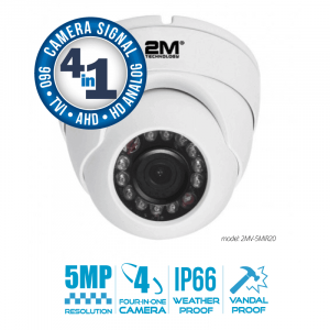 2M Technology 2MV-5MIR20 Vandal Proof IR Dome Camera-1