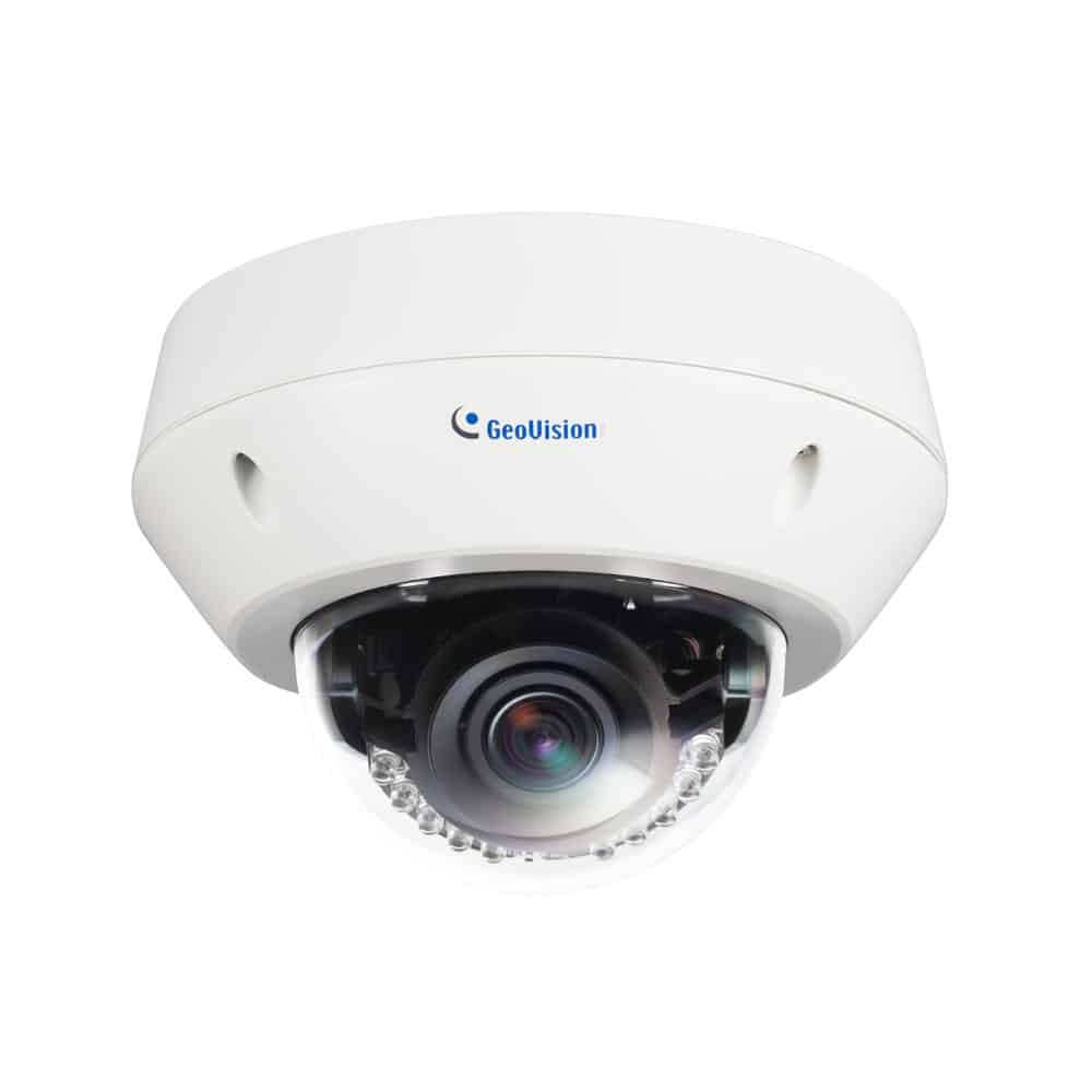 Geovision GV-EVD2100 2MP H.264 Super Low Lux WDR IR Vandal Proof IP Dome Camera