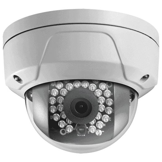 Hikvision OEM 2 mp White Miniture Dome Vandal Resistant Fixed 2.8MM