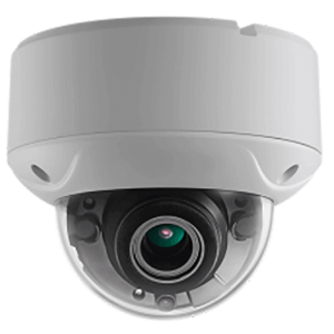 Hikvision OEM 2mp Dome Outdoor Weather Proof/ Vandal Resistant White Motorized TVI