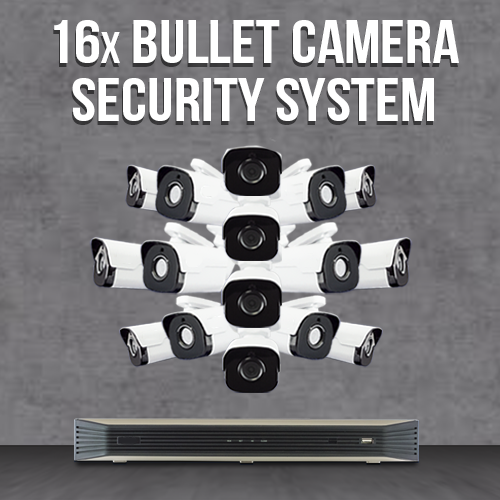 16 Bullet Camera System with NVR