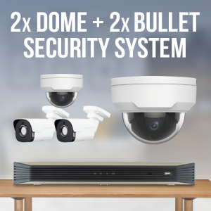 4 Camera Surveillance System - 2 Dome and 2 bullet camera surveillance system