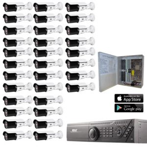 2MKT-2M32ZB 2m Technology 32 Motorized Bullet Security Camera System kit
