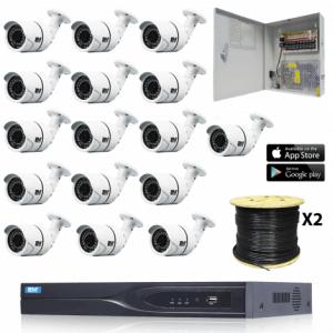 16 TVI Fixed Bullet Security Camera System kit