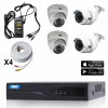 2m Technology 2 Fixed Bullet, 2 fixed domes Security Camera System kit