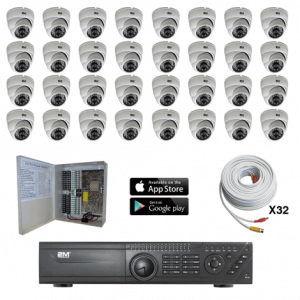 TVI Security Camera System 32 Fixed Domes kit