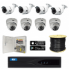 2m Technology 1080P, 4 Fixed Bullet, 4 Fixed dome Security Camera System