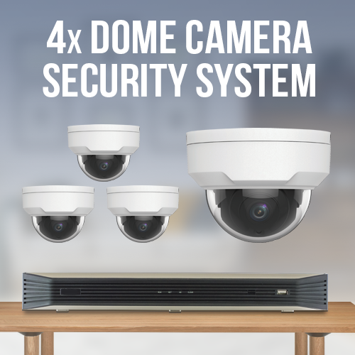 4 Vandal Proof Dome Camera Surveillance System