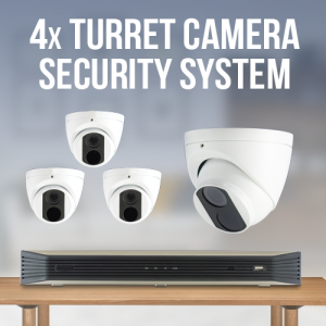 4 Turret Camera Home Surveillance System