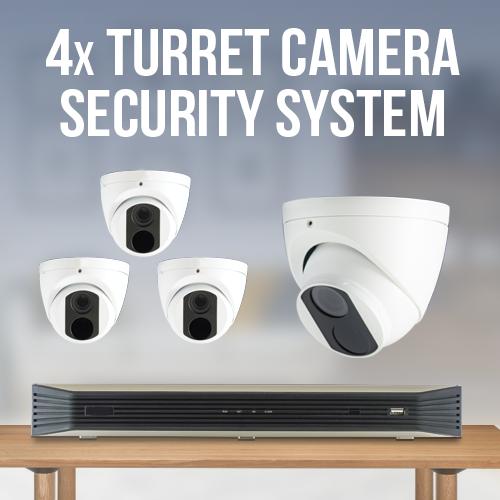 4 Turret Camera Home Surveillance System