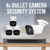 4 Camera Surveillance System - Bullet Camera