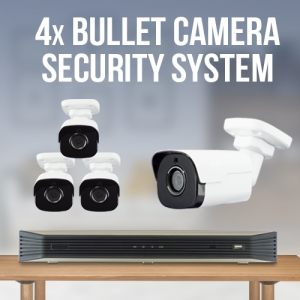 4 Camera Surveillance System - Bullet Camera