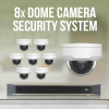 8 Dome Camera Surveillance with Network Recorder