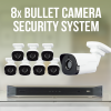 8 Bullet Camera Surveillance System with Recorder