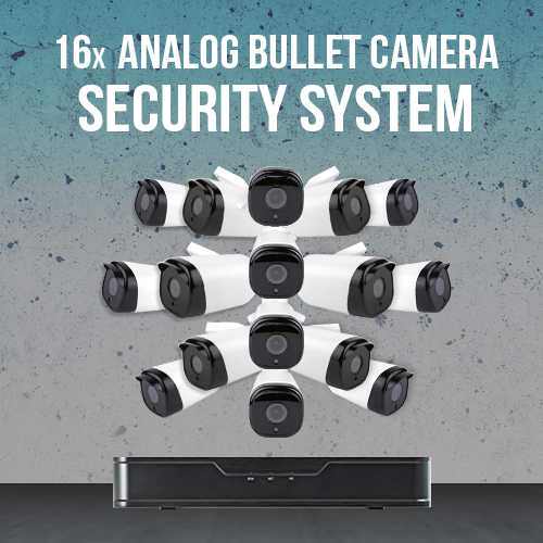 HD Commercial Surveillance System -16 Bullet Camera System