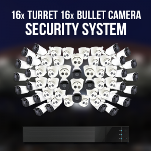 16X TURRET 16X BULLET Camera Security System