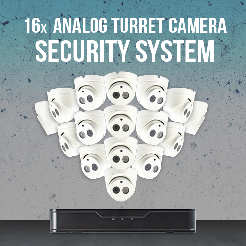 16x Analog Turet Camera Surveillance System and digital recorder