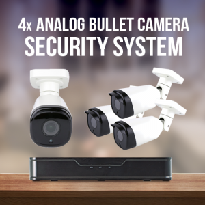 4 Camera Analog Surveillance System