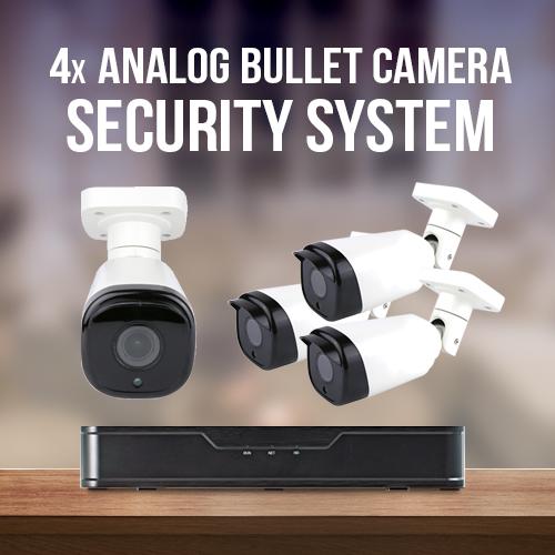 4 Camera Analog Surveillance System