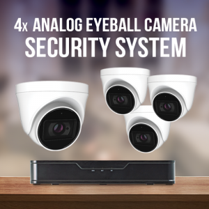 4 Analog Eyeball Camera System with recorder