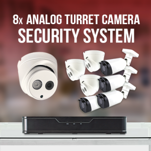 4 Turret and 4 Bullet Surveillance System
