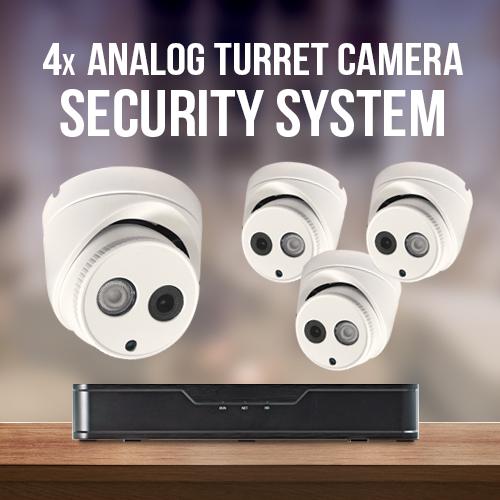 4x Analog Turret Cameras Surveillance System