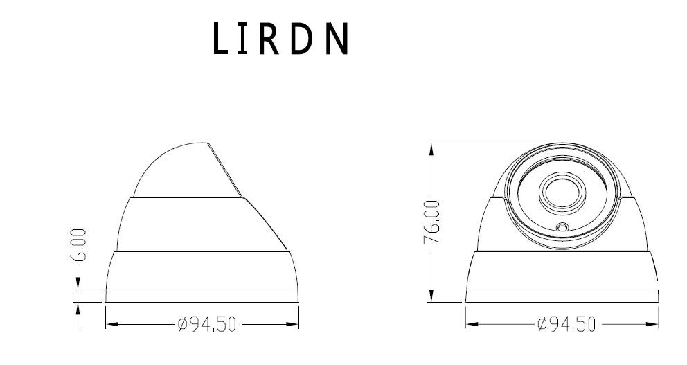 LIRDNS400 IP Camera Dimensions